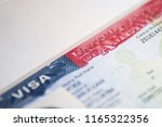 usa visa background. us visa in ... | Shutterstock . vector #1165322356