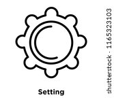setting icon vector isolated on ... | Shutterstock .eps vector #1165323103