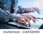 blockchain technology concept... | Shutterstock . vector #1165326400