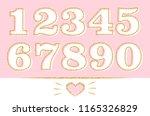 set of numbers  1 2 3 4 5 6 7 8 ... | Shutterstock .eps vector #1165326829