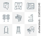 furniture icons line style set... | Shutterstock .eps vector #1165331140
