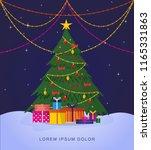 night christmas landscape.... | Shutterstock .eps vector #1165331863