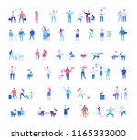 different people big vector set.... | Shutterstock .eps vector #1165333000