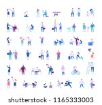 different people big vector set.... | Shutterstock .eps vector #1165333003