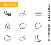 air icons line style set with...   Shutterstock . vector #1165333690