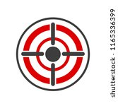 icon target in flat design ... | Shutterstock . vector #1165336399
