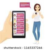 online review rating bubble... | Shutterstock .eps vector #1165337266