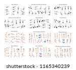 big set of people doing... | Shutterstock .eps vector #1165340239