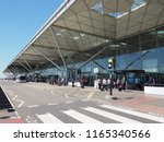 stansted  uk   circa june 2018  ... | Shutterstock . vector #1165340566