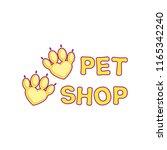 pet shop logo template design... | Shutterstock .eps vector #1165342240