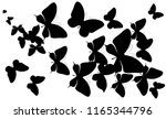 black butterfly  isolated on a... | Shutterstock . vector #1165344796