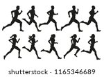 run. running men and women ... | Shutterstock .eps vector #1165346689