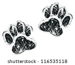 dog paws | Shutterstock .eps vector #116535118