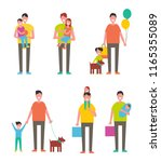 fathers day poster dads holding ... | Shutterstock .eps vector #1165355089