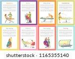 depilation tanning  cosmetician ... | Shutterstock .eps vector #1165355140