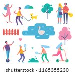 park happy people activities... | Shutterstock .eps vector #1165355230