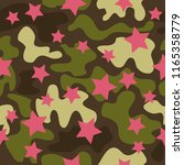 trendy fashion camouflage... | Shutterstock .eps vector #1165358779