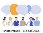 teamwork and communication... | Shutterstock .eps vector #1165360066