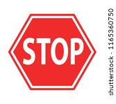 sign stop blocking red on white ... | Shutterstock . vector #1165360750
