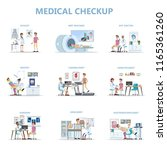full medical checkup set with... | Shutterstock .eps vector #1165361260