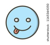 emoticon filled icon | Shutterstock .eps vector #1165364350