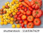 tomato biodiversity background | Shutterstock . vector #1165367629