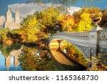 bridge in central park in new... | Shutterstock . vector #1165368730