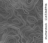 vector contour topographic map... | Shutterstock .eps vector #1165368946