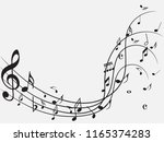 music notes abstract. music... | Shutterstock .eps vector #1165374283