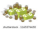 cash money dollar stacks and... | Shutterstock .eps vector #1165376650