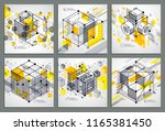 isometric abstract yellow... | Shutterstock .eps vector #1165381450