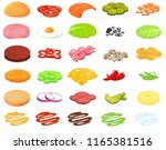ingredients burger designer.... | Shutterstock .eps vector #1165381516