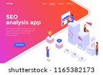 modern flat design isometric... | Shutterstock .eps vector #1165382173