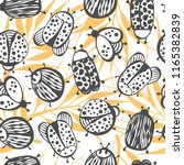 cartoon seamless pattern with... | Shutterstock .eps vector #1165382839