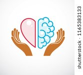 heart and brain concept ... | Shutterstock .eps vector #1165383133