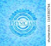 physician light blue mosaic... | Shutterstock .eps vector #1165383766