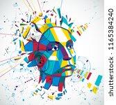 communication technology 3d... | Shutterstock .eps vector #1165384240
