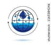global water circulation vector ... | Shutterstock .eps vector #1165384246
