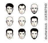 collection of caucasian men... | Shutterstock .eps vector #1165387540
