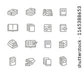 books related icons  thin... | Shutterstock .eps vector #1165388653