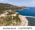 aerial drone view of beach cove ... | Shutterstock . vector #1165394893