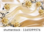 3d Golden Jewellery Flower On...