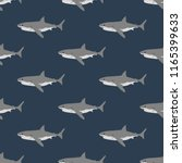 shark seamless pattern on the... | Shutterstock . vector #1165399633
