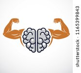 power brain emblem  genius... | Shutterstock .eps vector #1165399843