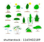 set of icons of tree shape.... | Shutterstock .eps vector #1165402189