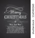 chalkboard christmas background ... | Shutterstock . vector #116540260