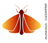 clothing moth icon. clipart... | Shutterstock .eps vector #1165409989