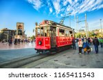 istanbul  turkey  old fashioned ... | Shutterstock . vector #1165411543