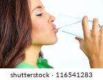 close up of pretty girl... | Shutterstock . vector #116541283