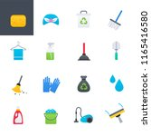 cleaning colorful icons set ... | Shutterstock .eps vector #1165416580